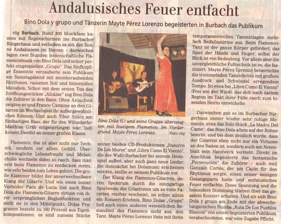 Burbach (Siegener Zeitung, 16.03.2009)