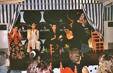 Besuch eines Konzertes in Jerez de la Frontera im Juli 2004