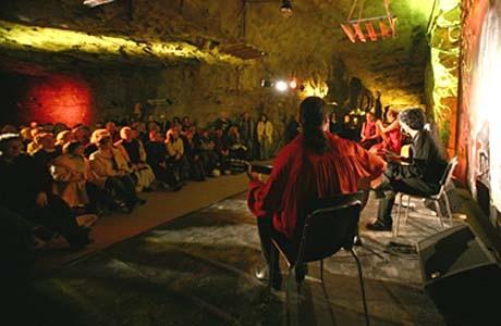 Bino Dola y grupo während der ArtMontan im Bergwerk bei Aue im April 2006 (Untertage!!!)