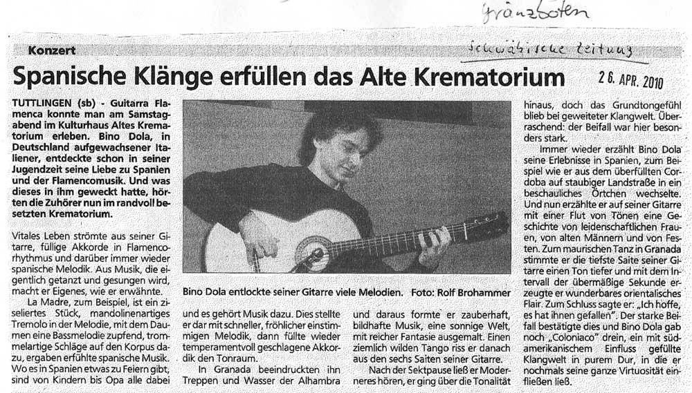 Tuttlingen (Schwäbische Zeitung, 26.04.2010)