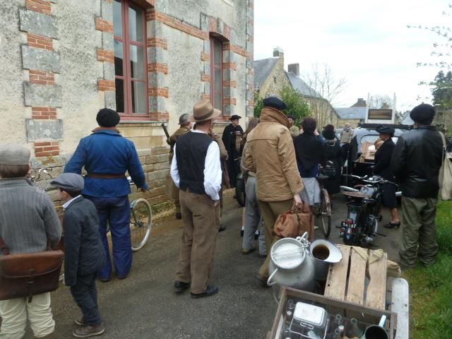 """Tournage au château de Blain pour le documentaire """"Le Livre de Pierres""""."""