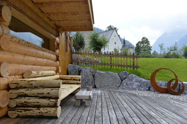 Außensauna im Naturhotel Lärchenhof