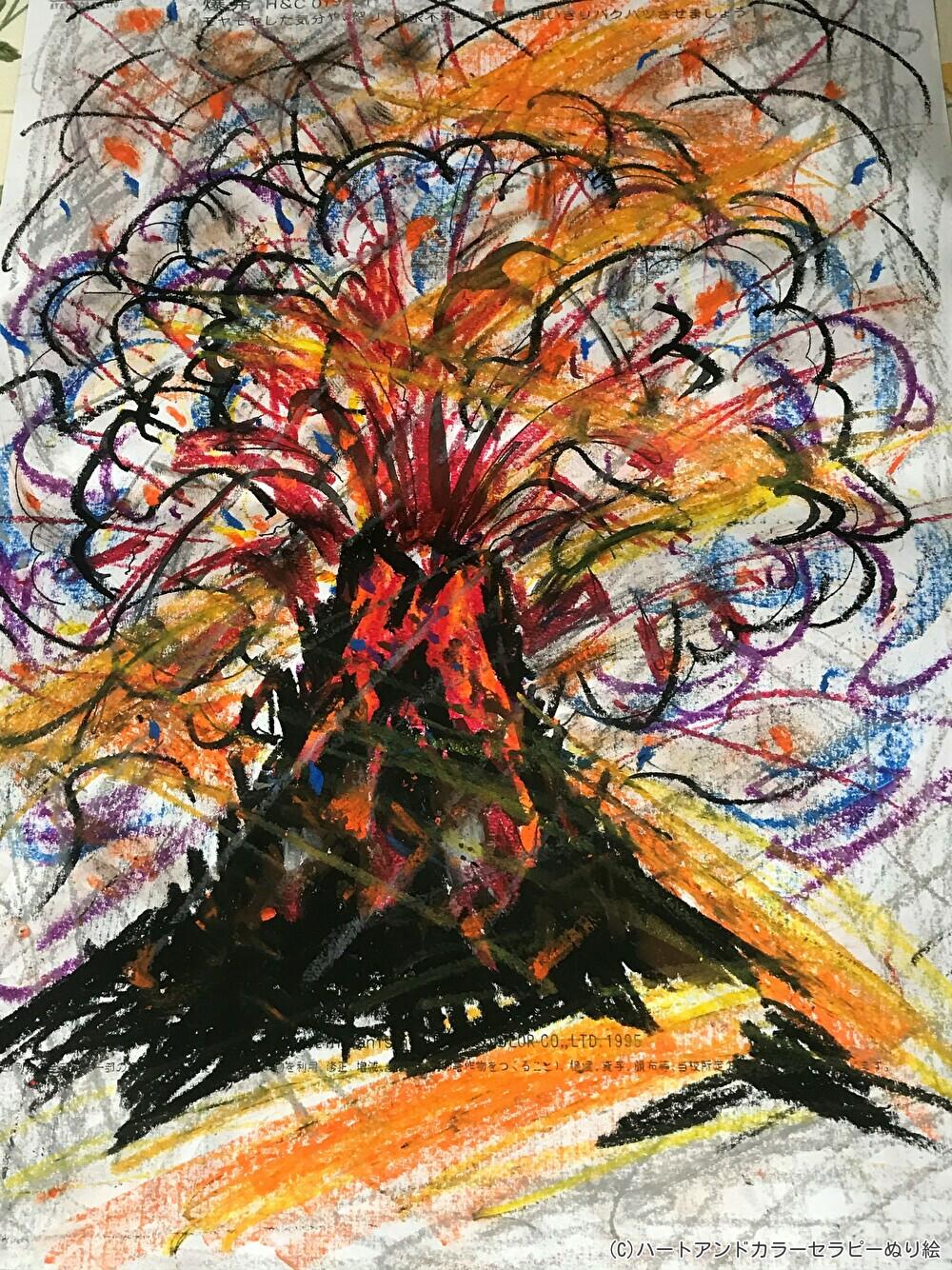 塗り絵アートセラピーお客様の作品~内なるエネルギーの気づき