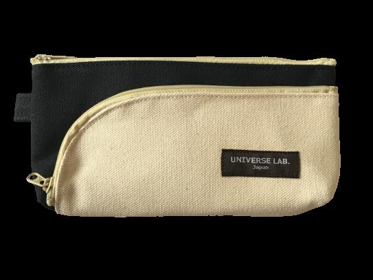 品名ストリームペンケース ブラック×ナチュラル     品番NN-254ケス JAN4958189772545