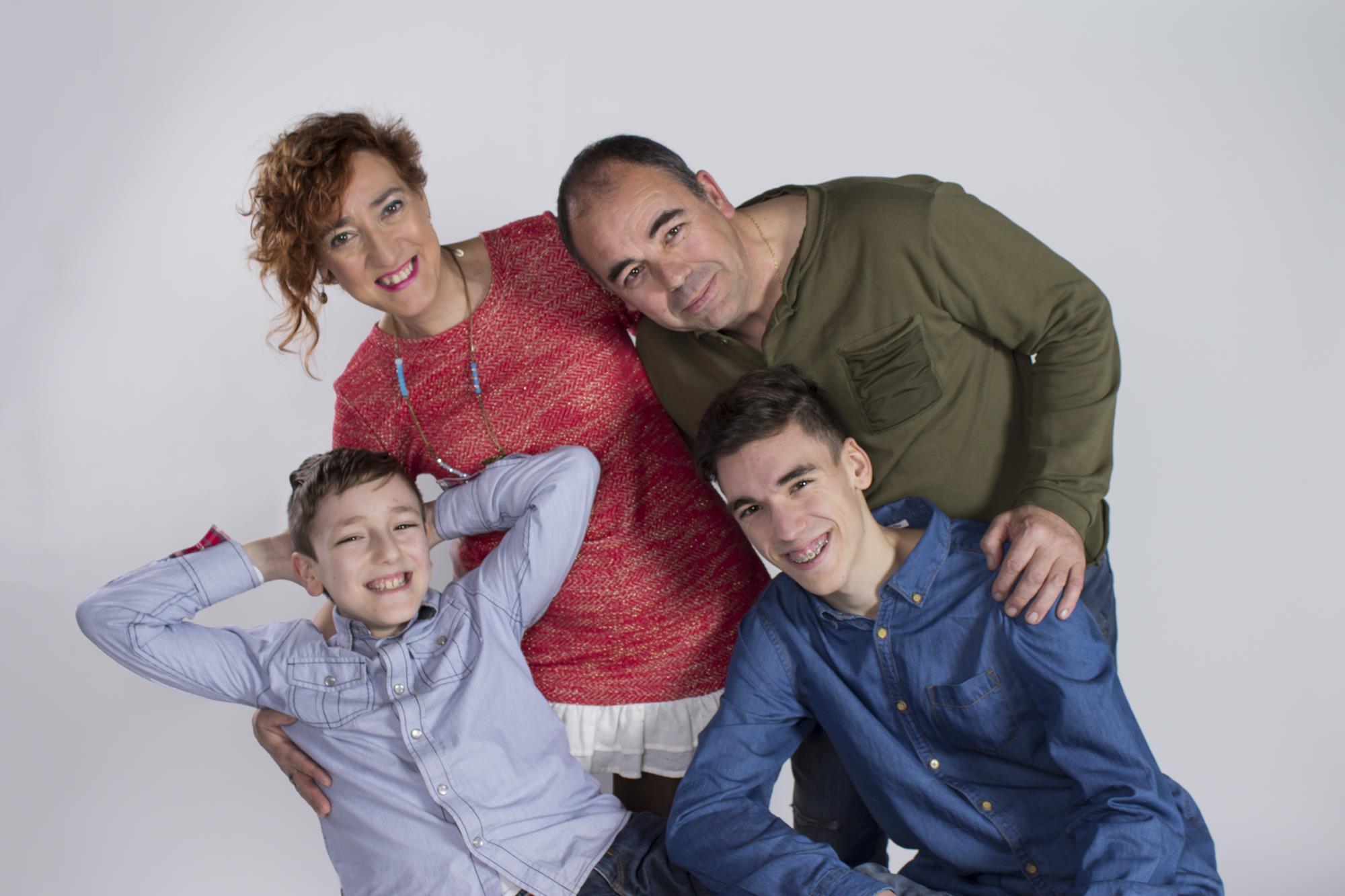 Fotógrafa Sonia Menéndez con familias