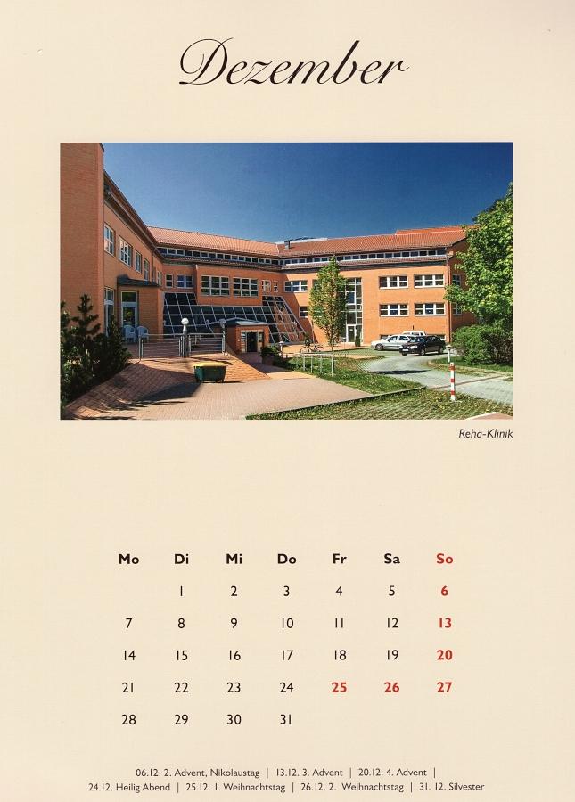 Kalenderblatt Rehaklinik Elbingerode