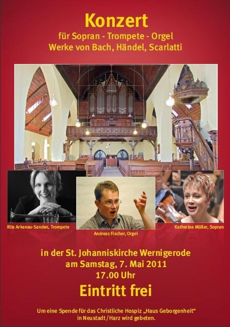 Benefizkonzert St. Johannistkirche Wernigerode -Orgelbild