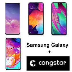Samsung Galaxy S10, A 50, A40 und A70 mit Allnet Flat von Congstar