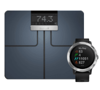 Garmin Waage Index Smart Scale + Garmin Vivoactive 3