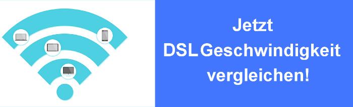DSL Geschwindigkeit im Vergleich