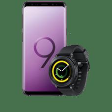 Samsung Galalaxy S9 Smartphone mit  Gratis Samsung Gear Spaort Smartwatch
