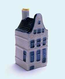 KLM miniatura número 40, Amsterdam, Keizersgracht 104 De Rode Hoed La Red Hat, Construida poco antes de 1630.