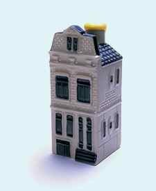KLM miniatura número 71, Amsterdam, Singel 81, construida alrededor de 1900.