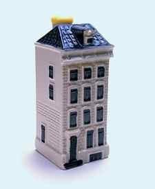 KLM miniatura número 74, Amsterdam, Reguliersgracht 7, construida en el siglo 17 y reconstruida varias veces.