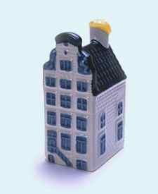 KLM miniatura número 14, Amsterdam, Heerengracht 510, Casa de los Dos dioses del mar, construida en 1688.