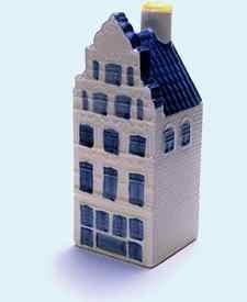 KLM miniatura número 41,  Leeuwarden, San Jacobsstraat 13, Construida en 1635, reconstruida en 1706 y restaurada en 1928.