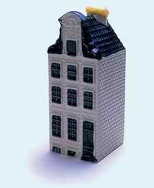 KLM miniatura número 59, Amsterdam, Herengracht 163 Het El Barril, construida antes de 1632 y reconstruida en 1721.