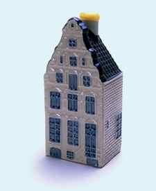 KLM miniatura número 53, Amsterdam, Herengracht 203, Construida alrededor de 1618 y Restaurada en 1920 y 1973.