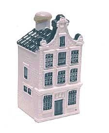 KLM miniatura número 80, Amsterdam, Gravenstraat (cerca de la Plaza Dam) De Drie Fleschjes, Las tres botellas, Construida en 1650.