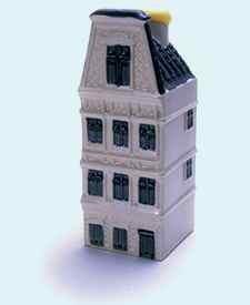 KLM miniatura número 61, Amsterdam, Keizersgracht 439, Construida en 1683 y reconstruido en 1895.