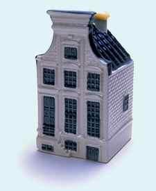 KLM miniatura número 63, Amsterdam, Keizersgracht 407, Construida en 1665 y reconstruida a principios del siglo 19.