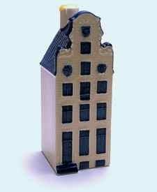 KLM miniatura número 56, Amsterdam, Herengracht 64 De Werelt El mundo, construida alrededor de 1630 y reconstruida en 1716.
