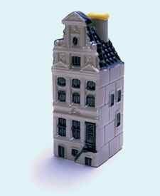 KLM miniatura número 69, Amsterdam, Keizersgracht 319, Construida en 1639.