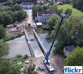 Bad Freienwalder Brücke in Bad Pyrmont,Bauarbeiten