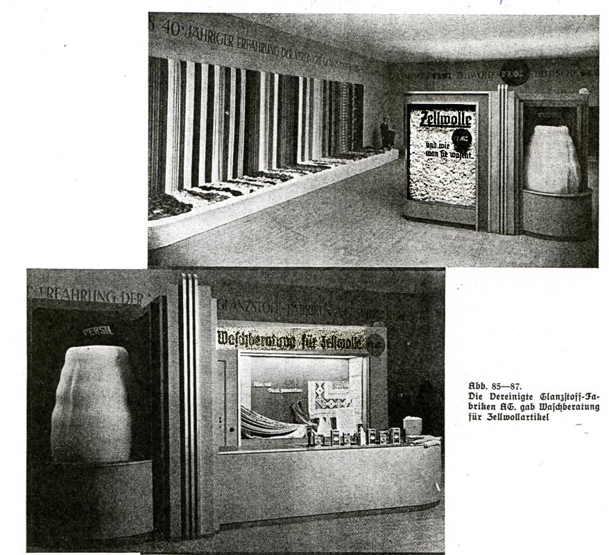Waschberatung auf der Textilausstellung 1937.