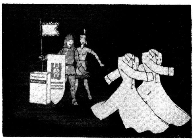 """Trickfilm """"Du und die 3"""", 1942."""