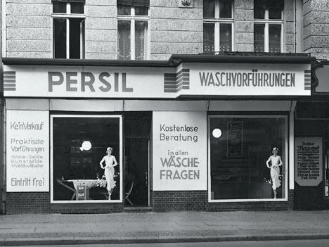 Lokal für Waschvorführungen und -Beratung von Persil, um 1938.