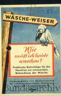 Leporello zur Ankündigung der Wäscheweiser, 1942. BArch R5002/4.