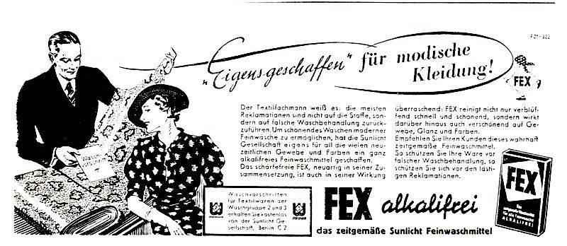 Sunlicht-Anzeige_______________________________ mit Piktogrammen,  1938.