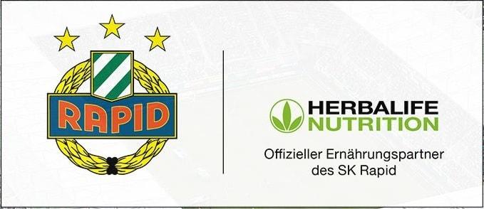Fußballverein Rapid Wien mit Sportshakes von Herbalife