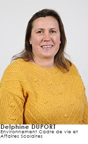 Delphine DUPORT - Commissions Environnement Cadre de vie et Affaires Scolaires