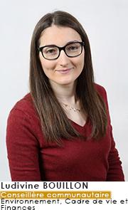 Ludivine BOUILLON  - Conseillère Communautaire - Commissions Cadre de Vie et Développement Durable et Finances