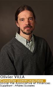 Olivier VILLA - Conseiller Communautaire - Commissions Social Vie Associative et Finances