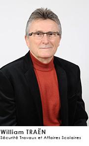 William TRAËN- Commissions Sécurité Travaux et Affaires Scolaires
