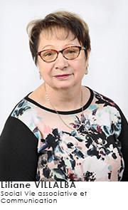 Liliane VILLALBA - Commissions Social Vie associative et Communication