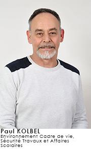 Paul KOLBEL - Commissions Environnement Cadre de vie, Sécurité Travaux et Affaires Scolaires