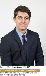 Ion Octavian POP - Conseiller Communautaire - Commissions Environnement Cadre de vie et Affaires Scolaires
