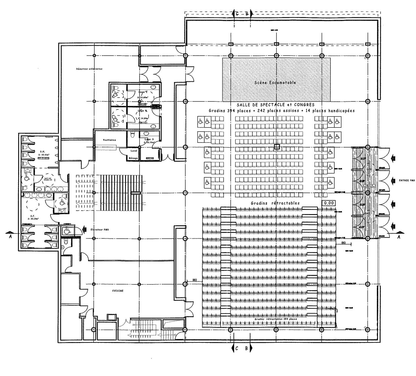 Espace Ventadour - Egletons - Plan