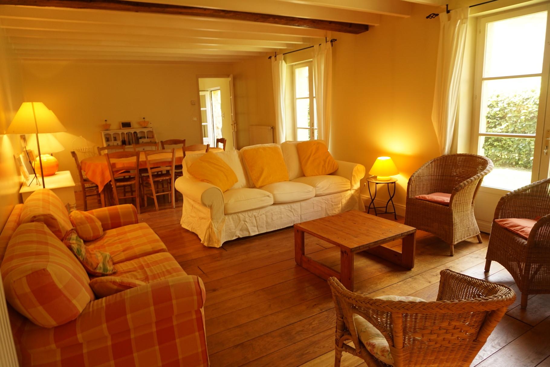 Salon de la bergerie - Gîte Aisne