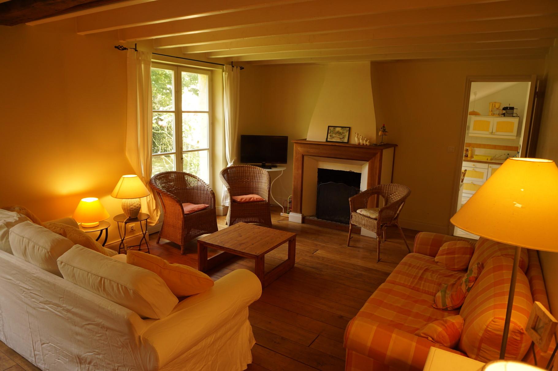 Salon de la bergerie- Gîte Aisne