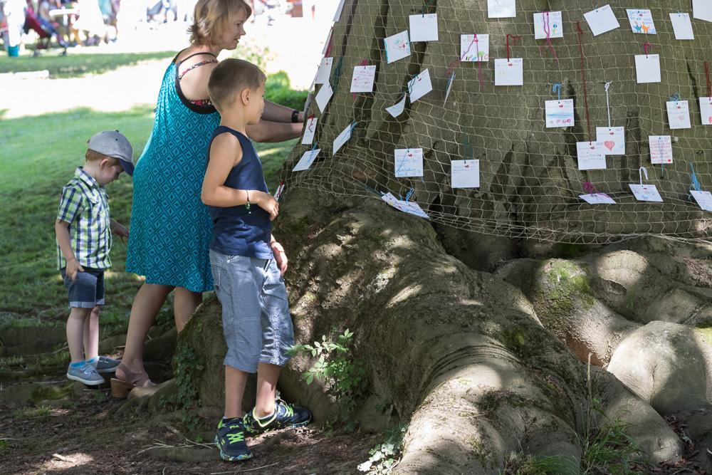 Wunschbaum beim Kinderfestival im Stadtpark Lahr (5.900 Besucher)
