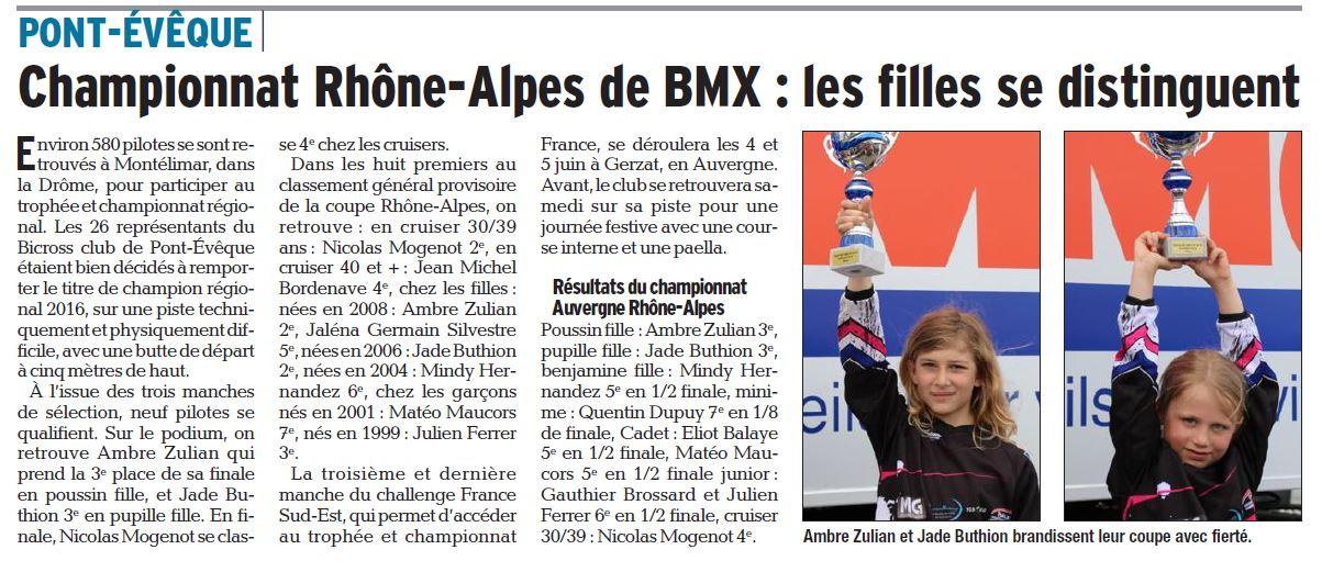 Championnat Rhône Alpes à Montélimar - 22 mai 2016