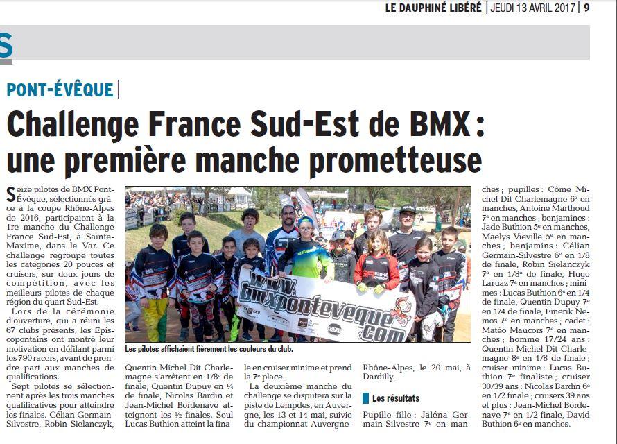 Challenge France Sud-Est 1ère manche à Ste Maxime - 8 et 9 avril 2017