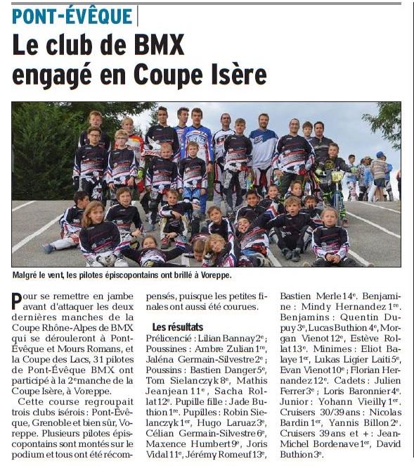 Coupe Isère 2ème manche à Voreppe -  12 septembre 2015