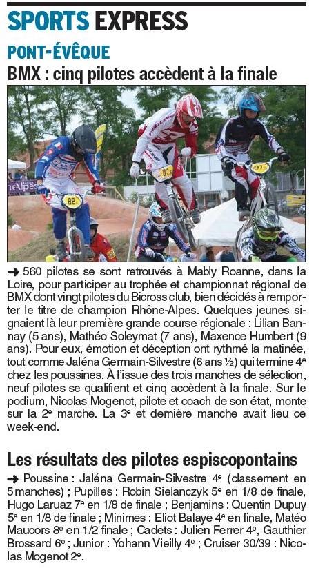 Championnat Rhône Alpes à Mably Roanne - 8 juin 2015