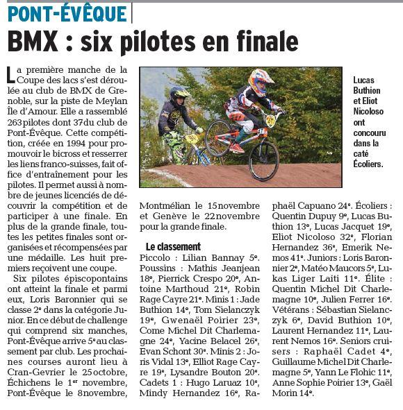 Coupe des Lacs 1ère manche à Grenoble - 18 octobre 2015